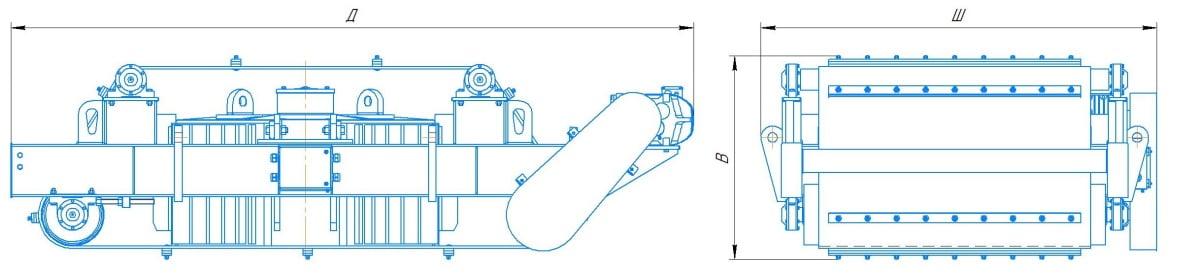 Железоотделитель ДЖС схематично