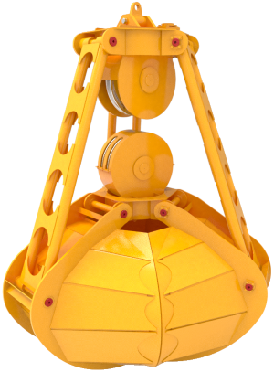 Трёхчелюстные канатные для подводного черпания