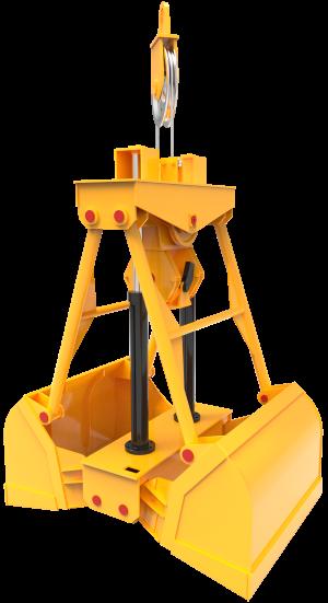 Двухчелюстной гидравлический одноканатный грейфер