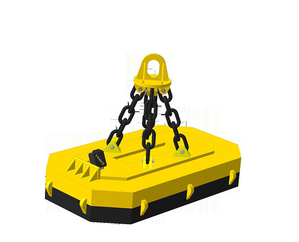 Прямоугольные грузоподъемные электромагниты для перегрузки скрапа